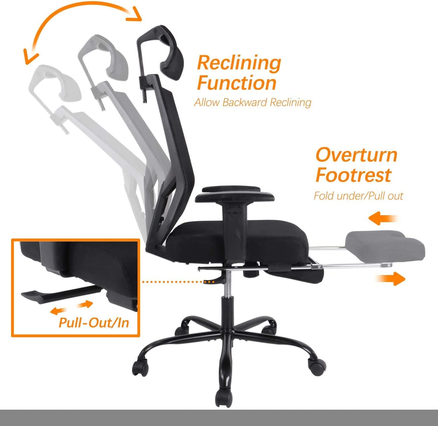 61vNkiTsfEL. AC SL1500 - What is The Best Computer Chair For Long Hours Sitting? [Comfortable and Ergonomic] - ChairPicks