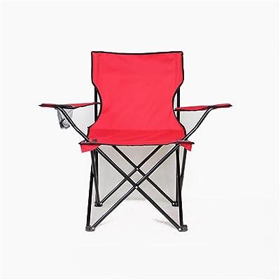 Chaise pliante à l'extérieur Chaise de plage de loisirs Chaise de pêche à l'accoudoir en tissu Oxford - Rouge, vert, bleu