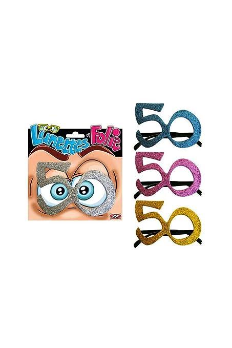 Générique Gafas de cumpleaños de 50 años: Amazon.es: Hogar