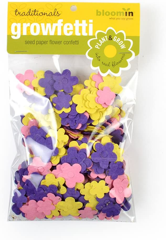 Bloomin Seed Paper Shape Packs Growfetti Flower Shapes {Pastels}