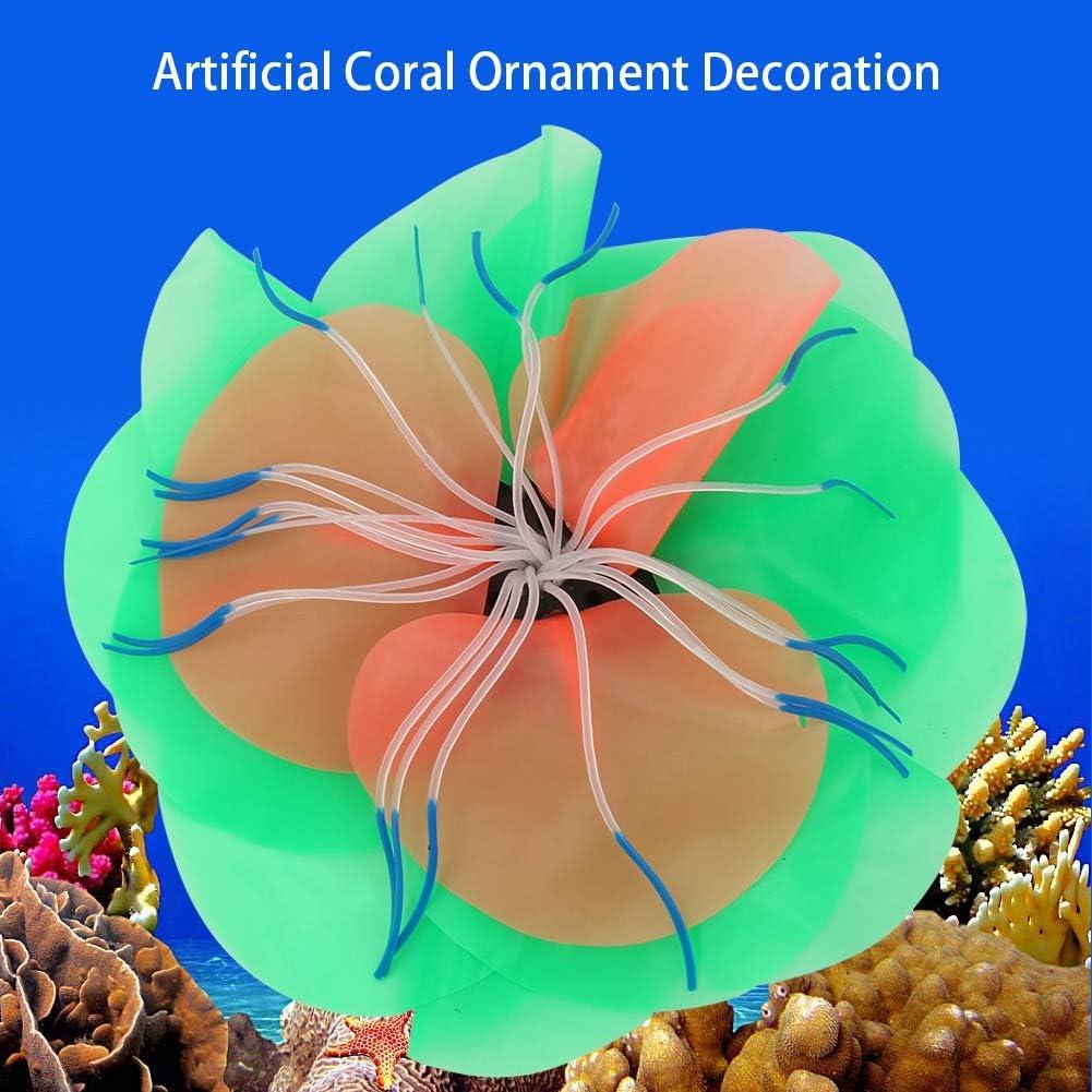 Fish Tank Artificial Glowing Effect Decor Vivid Simulation Landscaping Aquatic Coral Aquarium Ornament Plastic Coral 5#
