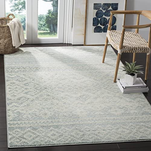 Safavieh Adirondack Collection ADR107T Slate and Ivory Rustic Bohemian Area Rug 9' x 12'