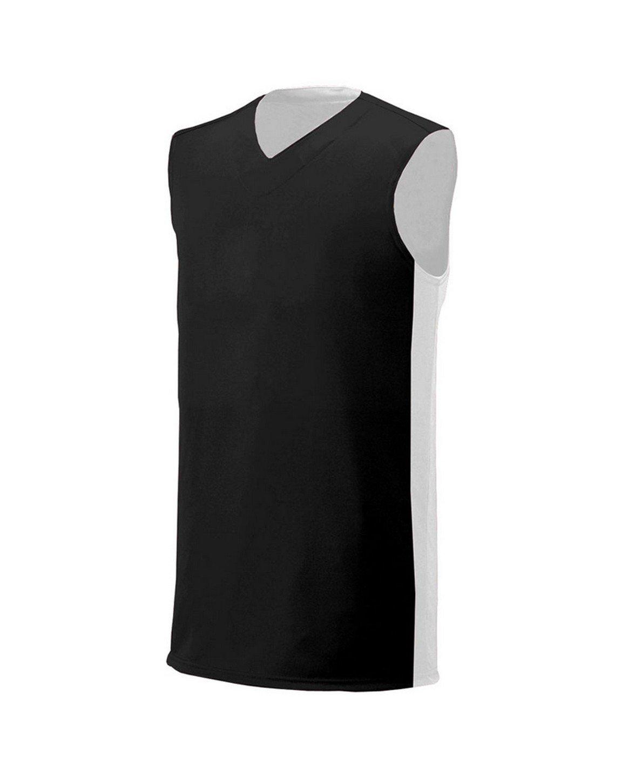 A4 Boy's Reversible Moisture Management Muscle Black/White