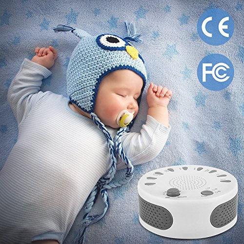 ARTIFUN Noise Machine, Portable Home, Natural Smoothing and Relaxing Sounds,3 Battery Powered