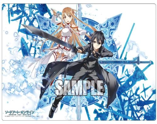 Sword Art Online Kirito & Asuna Card Game Character Rubber Play Mat Collection Vol.004 4 Anime Girl Lightning Flash and Black Swordsman SAO by Sword Art Online