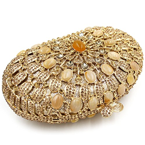 WYB Europäischen und amerikanischen Luxus-Diamant-Abendtasche / Kupplung / High-End hohlen voller Diamant-Beutel / Bankett Tasche