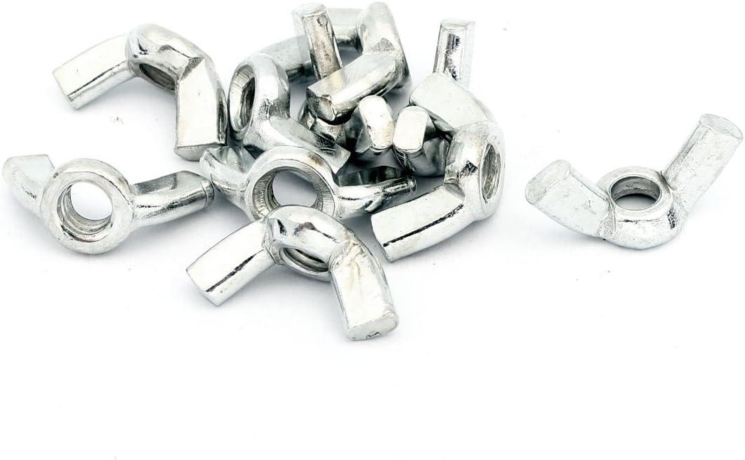 Aexit 10 pcs Nuts M6 Female Thread Qucik Release Metal Panel Nuts Wingnut Hardware