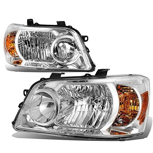 For Highlander XU20 1st Gen Pair of Chrome Housing Amber Corner Headlight Lamp Replacement Kit