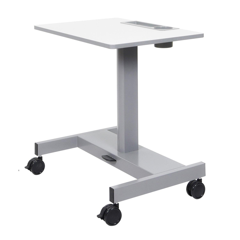 Luxor Pneumatic Adjustable Height Sit Stand Desk - Light Gray