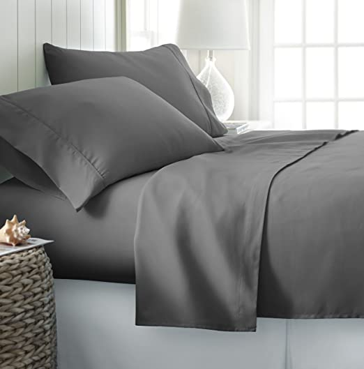 Rajlinen 600 Thread Count Luxurious 100/% Egyptian Cotton Sheets- Set of 4 Piece Bedding - Sage Stripe, 28 x 75 by - Fits 12 Deep Mattress 1 Fitted Sheet,1 Flat Sheet, 2 Pillows Covers