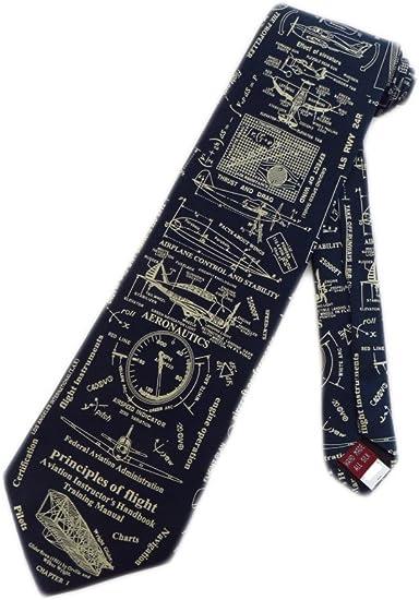 """Museum Artifacts """"Principles of Flight"""" Necktie"""