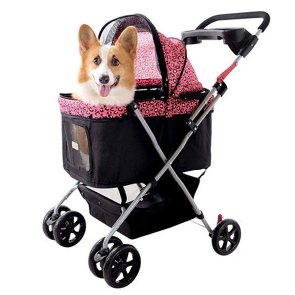 A Dixinla Pet StrollerPet Products Travel Dog cat cart can be Folded