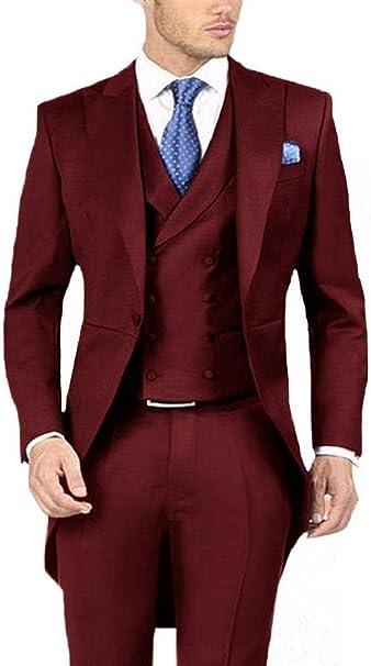 Amazon.com: Everbeauty traje formal de boda para hombre ...