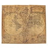 Bazaar 62x52cm Old Retro Large World Map Vintage Antique Style Brown Paper Poster Wall Chart