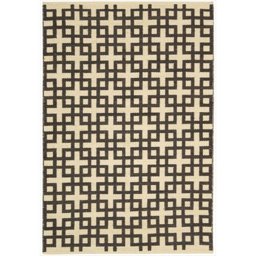 Nourison Bbl3 Maze (MAZ01) Bark Rectangle Area Rug, 3-Feet 6-Inches by 5-Feet 6-Inches (3'6