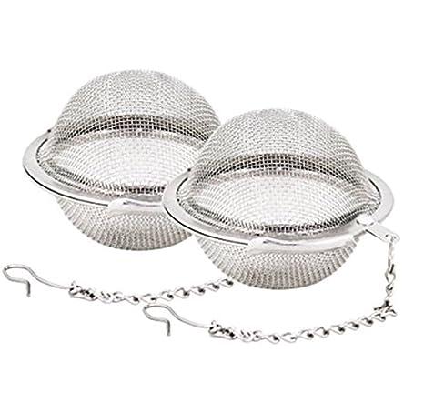 Leisial™ 2 Piezas Filtro de Té Acero Inoxidable Malla Té Infuser de Bola Colador de Té Infusores
