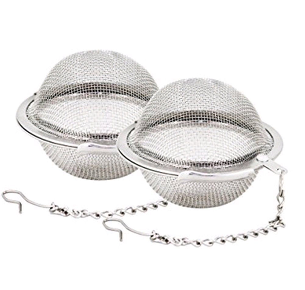 Hosaire Tea Infuser 2 Pcs Stainless Steel Mesh Tea Ball 2.1 Inch Tea Filter Strainers Tea Interval Diffuser for Tea with Extended Chain