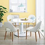 高さ自由自在!カフェスタイルダイニング 丸形昇降テーブル単品・径110cm ホワイト 671513