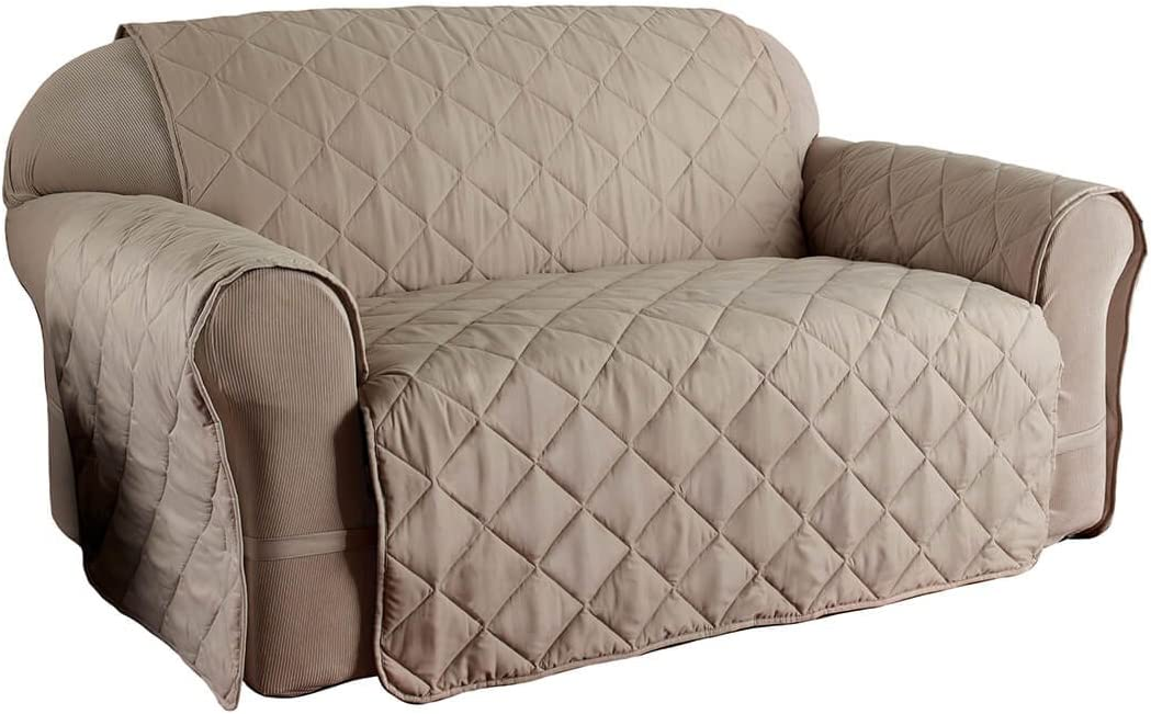 Innovative Textile Solutions Microfiber Solid Ultimate Sofa Protector, X-Large, Natural