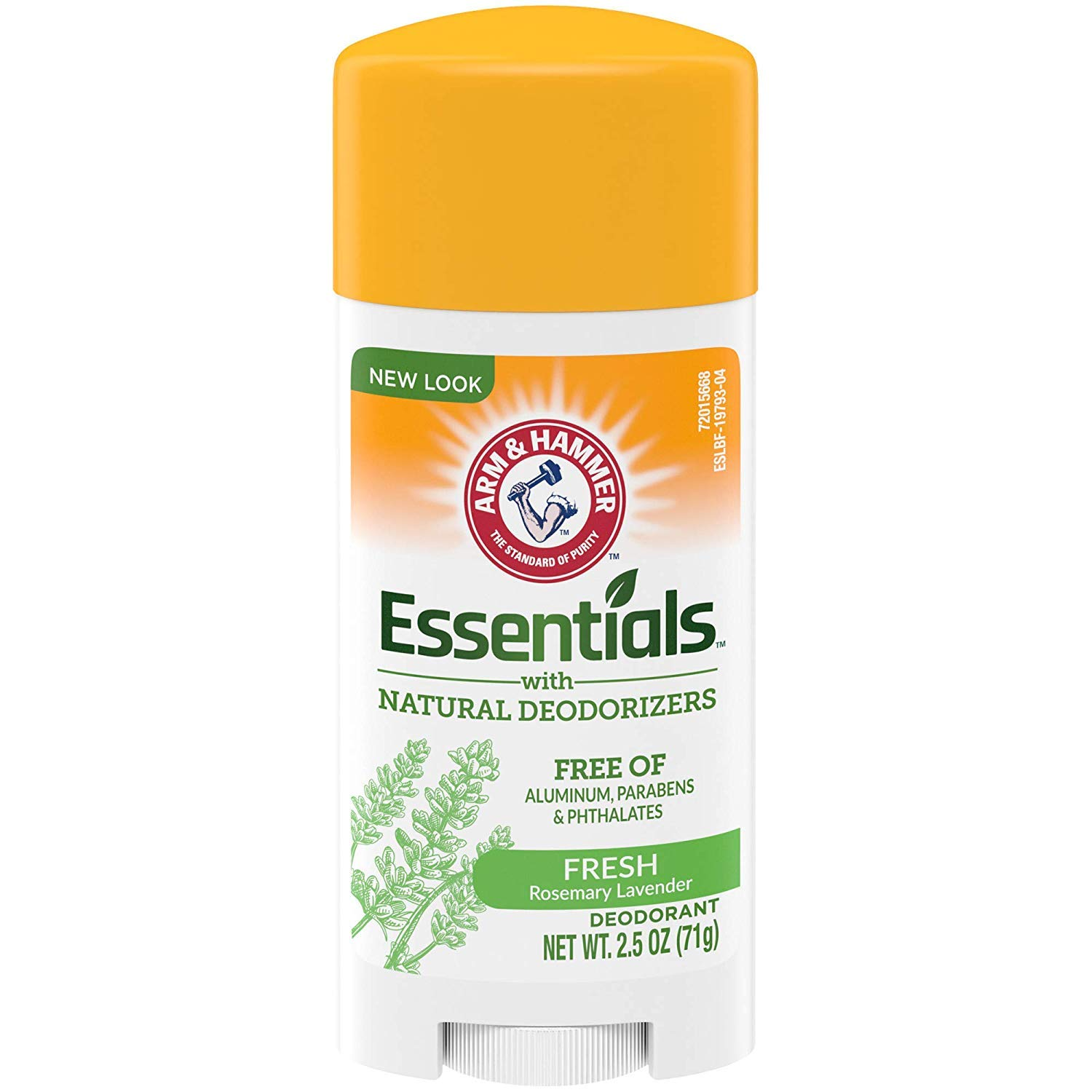 Arm & Hammer Essentials Natural Deodorant, Fresh - 2.5 oz - 2 pk