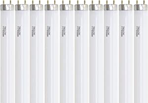 "(Pack of 10) F17T8/735 24"" 17-Watt Straight T8 Fluorescent Tube Light Bulb, 3."