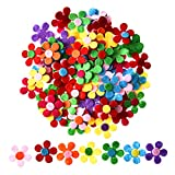 Sumind 100 Pieces Felt Flowers Fabric Flower Embellishments for DIY Crafts, Assorted Colors