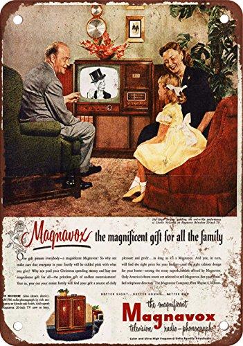 "7"" x 10"" Metal Sign - 1951 Edgar Bergen for Magnavox TV - Vi"