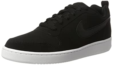 nike court borough low white black
