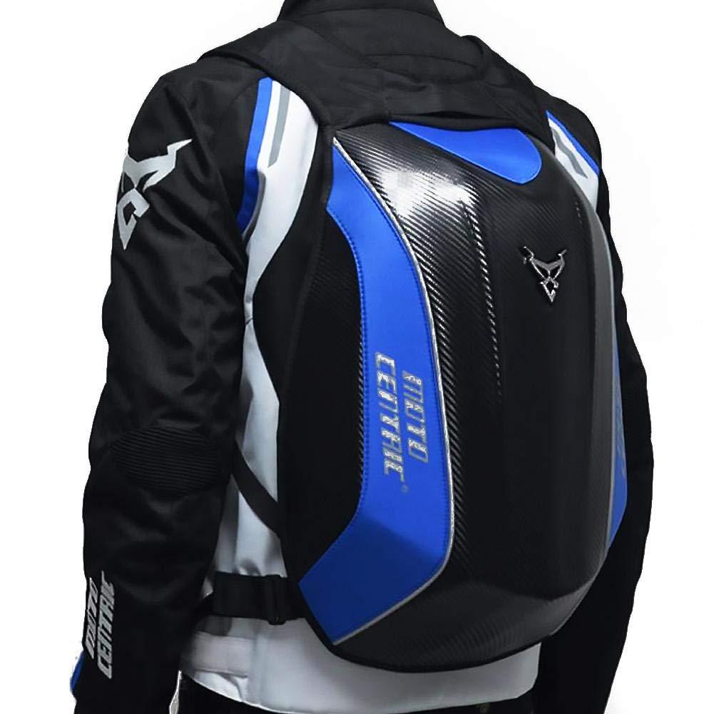 Bulary Carbon Fiber Motorcycle Backpack Riding Bag MC Backpack Rider Motorcycle Waterproof Hard Shell Kawasaki Turtle Bag