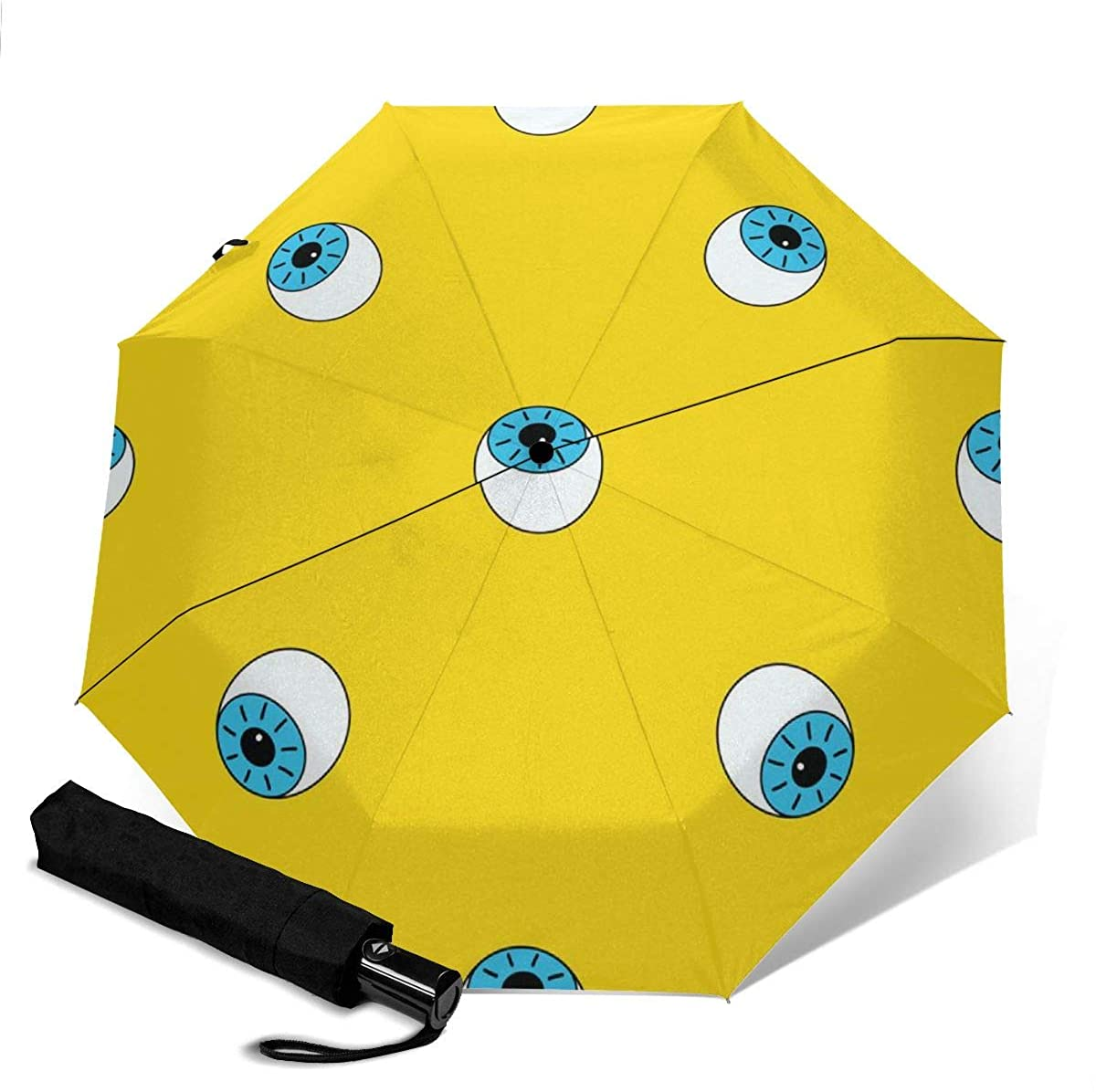 Pattern With Eye Vector Image Compact Travel Umbrella Windproof Reinforced Canopy 8 Ribs Umbrella Auto Open And Close Button Personalized