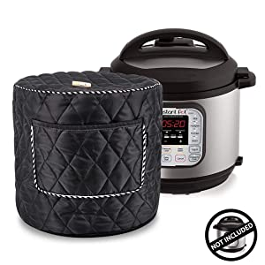 WERSEA Appliance Cover for 8 Quart Instant Pot and Electric Pressure Cooker with Front Pocket for Accessories