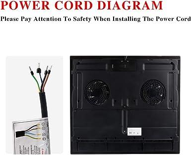 Placa de inducción de 6400 W: Amazon.es: Grandes electrodomésticos