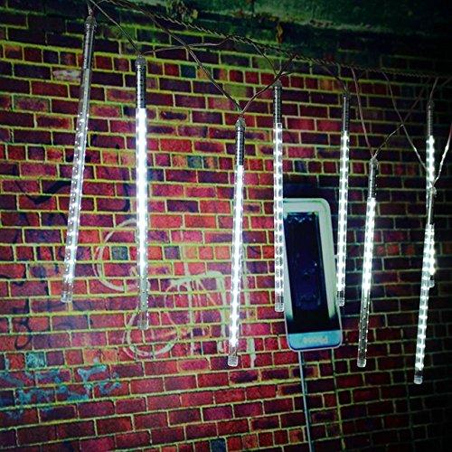 (Cold White, 50cm : 2835 SMD 30cm/50cm 10 Tube LED Strip Lights Meteor Shower Rain Christmas Tree Led Outdoor Light Waterproof IP65 AC85-265V)