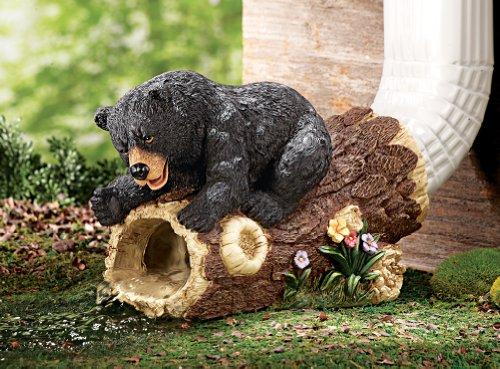 Curious Bear Decorative Downspout Extension, Brown