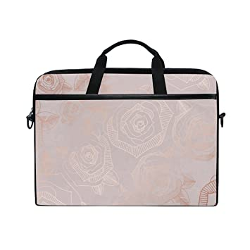 bf71744dc373 Laptop Case, Computer Sleeve Protective Bag Rose Gold Pattern 3 Layer with  Durable Zipper for Lenovo Hp Macbook Pro Neoprene Notebook 14 15 inch