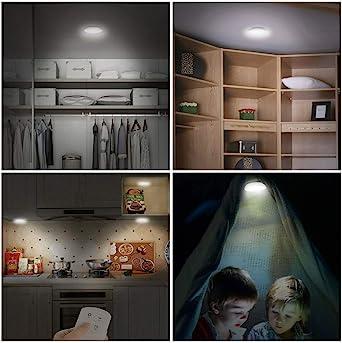 LED Closet Light - Lámpara de control remoto para armario de escaleras: Amazon.es: Iluminación