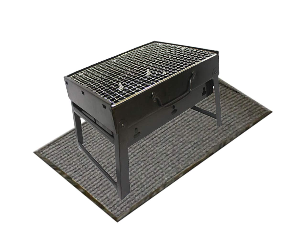 Coisound 1688 Grill Mat Gas Electric Grill,59''x 39.3'' x 0.236'' Extra Large Grill Pad,Lightweight Washable Floor Mat to Protect Decks from Grease Splatter