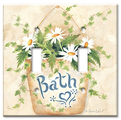 Light Switch Cover Art (Art Plates - Bath Switch Plate - Double Toggle)