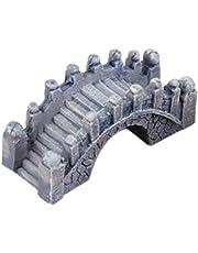 Ornement de jardin miniature Stone Bridge Figurine usine Résine Pots Cour Decoration-Grey