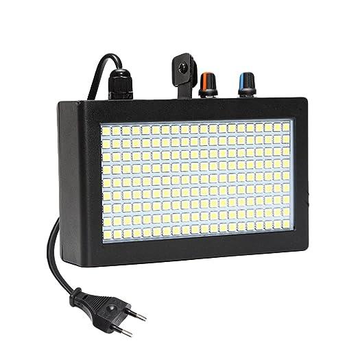 19 opinioni per SOLMORE 180 LED Luci Strobe Lampada Flash Bagliore Bianco Illuminazione Shell