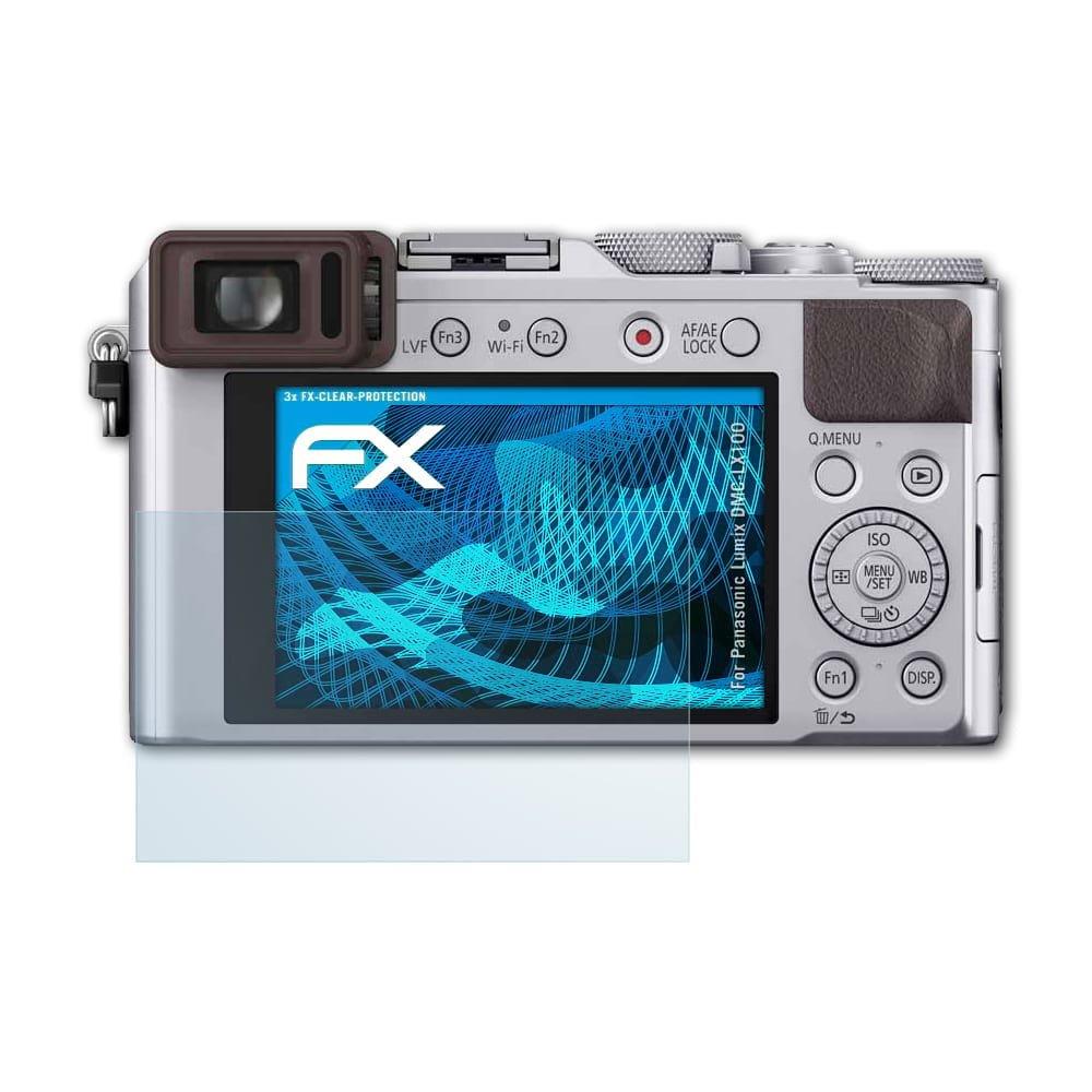 atFoliX Film Protection d'é cran pour Panasonic Lumix DMC-LX100 Protecteur d'é cran - 3 x FX-Clear ultra claire Film Protecteur FX-Clear@FoliX 4050512142176
