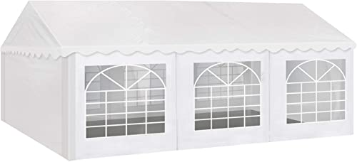 AMERICAN PHOENIX 20×20 Party Tent Heavy Duty Large White Roof Commercial Fair Car Shelter Wedding Events Canopy Tent White