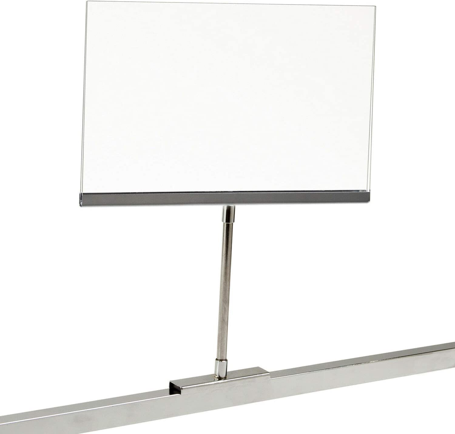 7 X 11 Card Display 20 Pack Retail Rack Acrylic Frame Magnetic Base Sign Holder 11.25 H