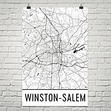 City Of Winston Salem >> Amazon Com Winston Salem Poster Winston Salem Wall Art