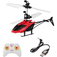 BM Infrared Induction Sensor Helicopter(with Remote Control ) USB Charger Flying Helicopter with Flashing Light (Green)