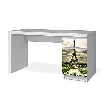 Möbeltattoo Für Ikea Malm Schreibtisch Kommode | Schutzfolie Dekoration  Möbel Sticker Folie | Möbel Dekorieren