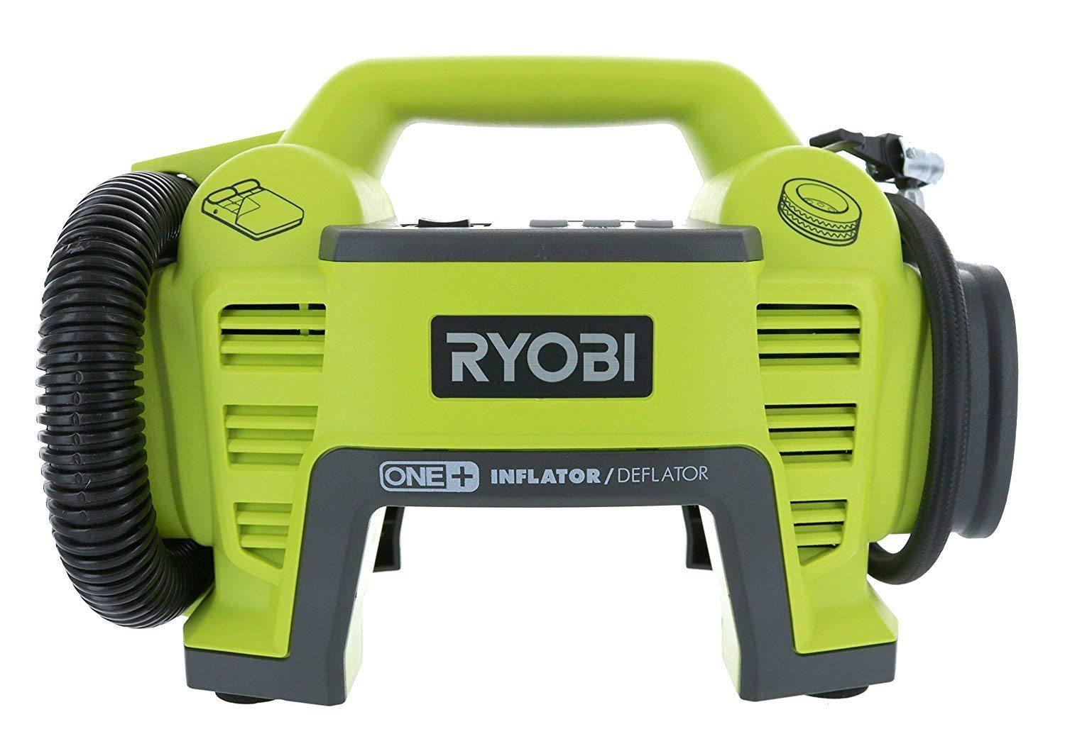 Ryobi P731 One+ 18v Dual Function Power Inflator/Deflator Cordless Air Compressor Kit w/ Adapters (Battery Not Included, Tool Only) (Renewed) by Ryobi