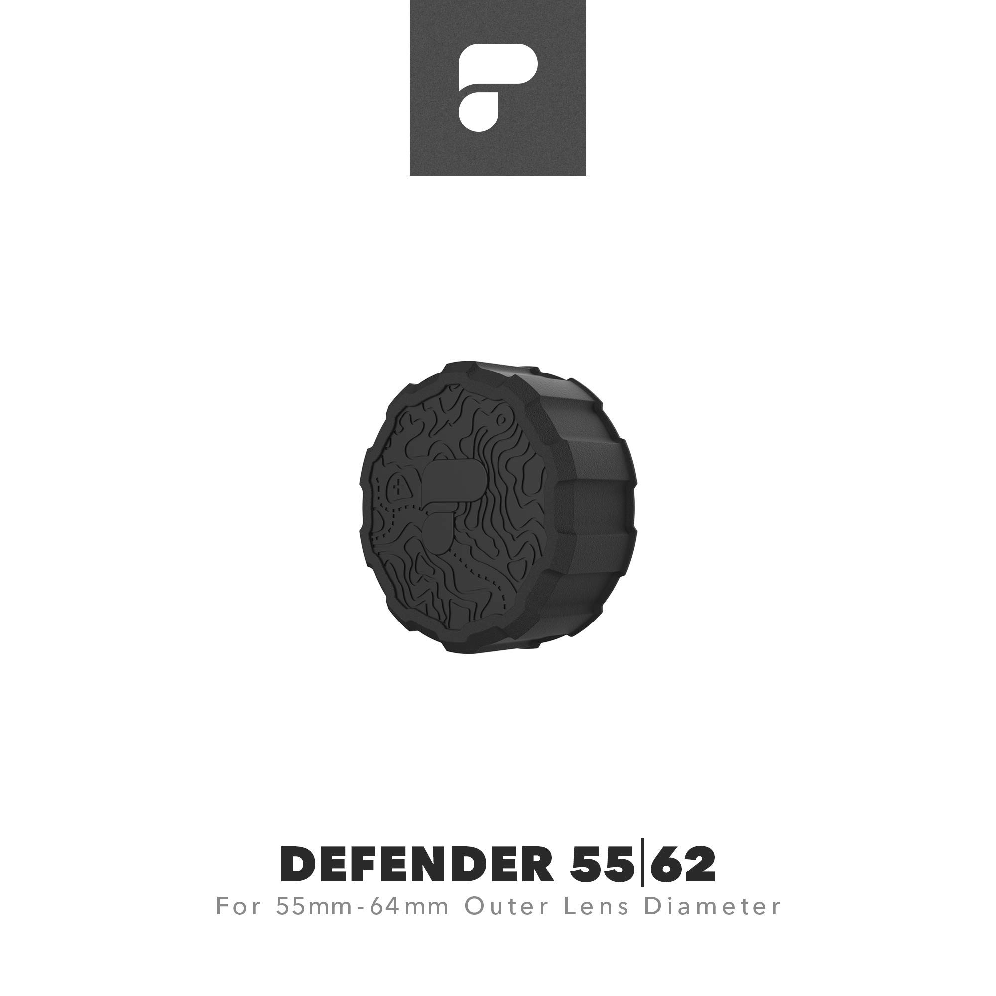 PolarPro Defender 55 | 62 Lens Cover (Fits Lenses with 55mm-64mm Outer Lens Diameter) by PolarPro