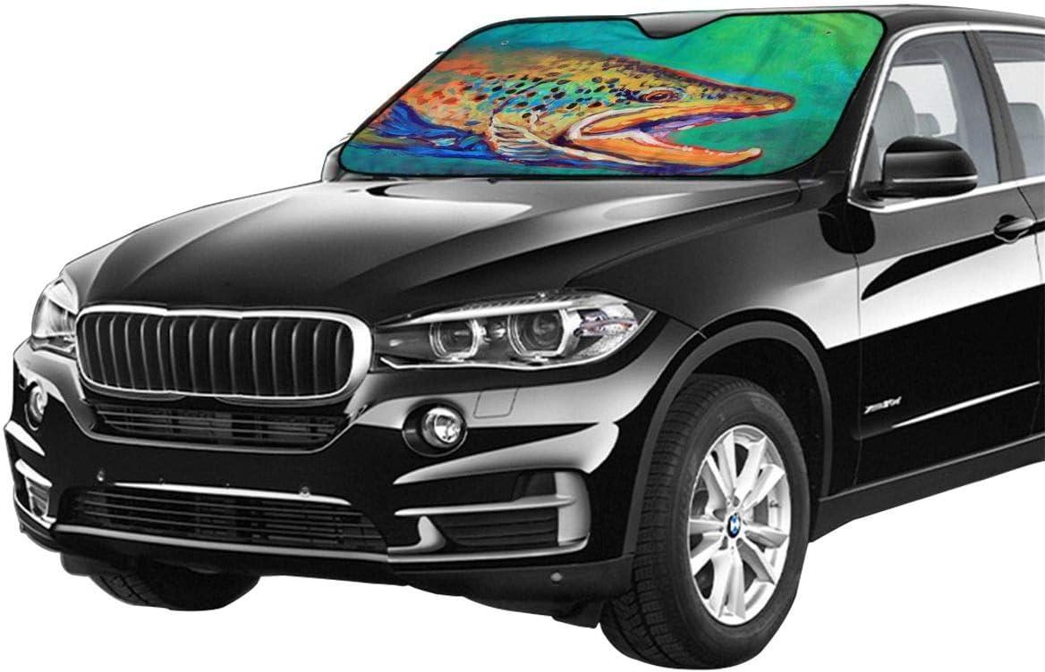 27,5 x 51 cm SUV per auto per pesca alla trota Parasole per auto camion minivan e la maggior parte dei veicoli.
