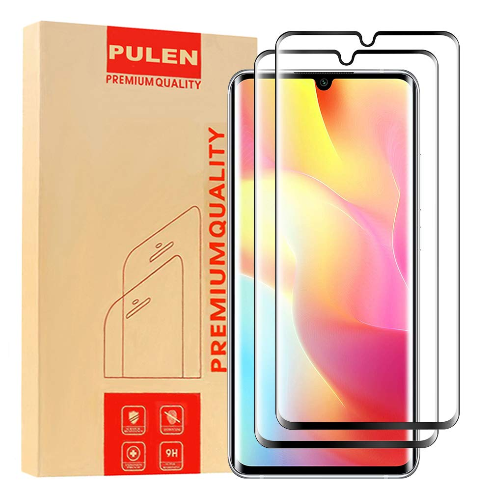 [2-Pack] PULEN for Xiaomi Mi Note 10 lite Screen Protector,HD Clear Scratch Resistant Bubble Free Anti-Fingerprints 9H…